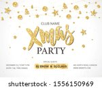 white and gold christmas party... | Shutterstock .eps vector #1556150969