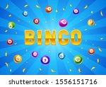 bingo or lottery card with... | Shutterstock .eps vector #1556151716