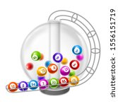 lottery machine with balls... | Shutterstock .eps vector #1556151719