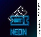 blue glowing neon line cinema... | Shutterstock .eps vector #1556183270