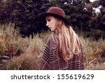 outdoor portrait of beautiful...   Shutterstock . vector #155619629