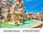 Main Fountain On Piazza Navona...