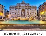 Illuminated Fontana Di Trevi ...