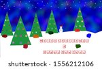 merry christmas and happy new... | Shutterstock . vector #1556212106