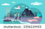 eco tourism flat tiny persons... | Shutterstock .eps vector #1556219453