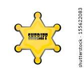 vector golden sheriff star... | Shutterstock .eps vector #155622083
