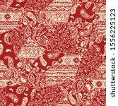 seamless patchwork pattern of... | Shutterstock .eps vector #1556225123