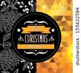 poster merry christmas... | Shutterstock .eps vector #155622584