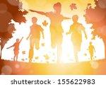 abstract boys running in the... | Shutterstock . vector #155622983