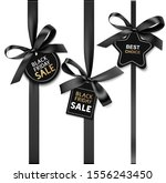 decorative black bow with price ... | Shutterstock .eps vector #1556243450