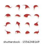 santa hats set isolated on... | Shutterstock .eps vector #1556248169