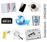 business and office icons set.... | Shutterstock .eps vector #155624870