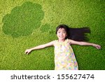 little asian girl resting on... | Shutterstock . vector #155627474