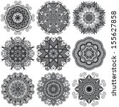 circle lace ornament  round... | Shutterstock . vector #155627858