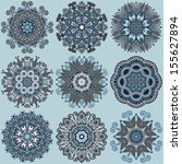 circle lace ornament  round... | Shutterstock . vector #155627894