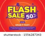 flash sale discount banner...   Shutterstock .eps vector #1556287343
