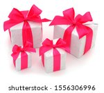 gift boxes  gifts on a white...   Shutterstock . vector #1556306996