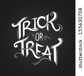trick or treat halloween poster ... | Shutterstock .eps vector #155630708
