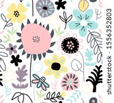 seamless pattern with cute... | Shutterstock .eps vector #1556352803