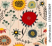 seamless pattern with cute... | Shutterstock .eps vector #1556352809