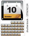 calendar icons. set october 2014 | Shutterstock . vector #155636114