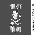 halloween gift card  | Shutterstock .eps vector #155636228