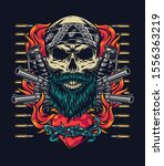 colorful tattoo vintage... | Shutterstock .eps vector #1556363219
