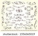 set of decorative elements.... | Shutterstock .eps vector #1556365019