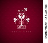 wine menu. | Shutterstock .eps vector #155636708