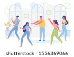 man with closed eyes catching... | Shutterstock .eps vector #1556369066