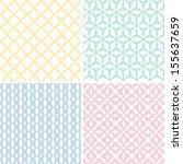 set of seamless patterns | Shutterstock .eps vector #155637659