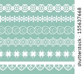 set of paper laces | Shutterstock .eps vector #155637668