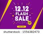 12.12 flash sale discount... | Shutterstock .eps vector #1556382473