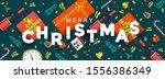 abstract modern merry christmas ... | Shutterstock .eps vector #1556386349
