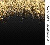 gold glitter backdrop. falling... | Shutterstock . vector #1556392970