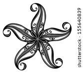 vector abstract sea starfish.... | Shutterstock .eps vector #155640839