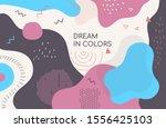 dream in colors   modern vector ... | Shutterstock .eps vector #1556425103