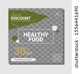food social media template... | Shutterstock .eps vector #1556441690