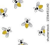 honey bee seamless pattern... | Shutterstock .eps vector #1556451140