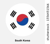 south korea flag icon isolated... | Shutterstock .eps vector #1556451566