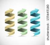 set of ad ribbon  360        ... | Shutterstock .eps vector #155645180
