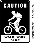 walk your bike | Shutterstock .eps vector #155646626
