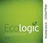 ecologic icon background.think...
