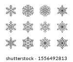 Snowflakes Isolated On White...