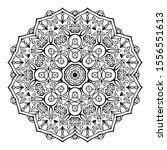 black mandala on white... | Shutterstock .eps vector #1556551613