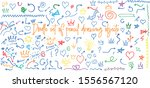 set of hand drawn vector... | Shutterstock .eps vector #1556567120