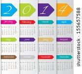 arrow calendar design for the... | Shutterstock .eps vector #155657588
