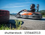 go kart racing professional go... | Shutterstock . vector #155660513