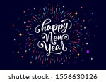 happy new year. lettering text...   Shutterstock .eps vector #1556630126