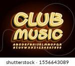 vector trendy banner club music....   Shutterstock .eps vector #1556643089